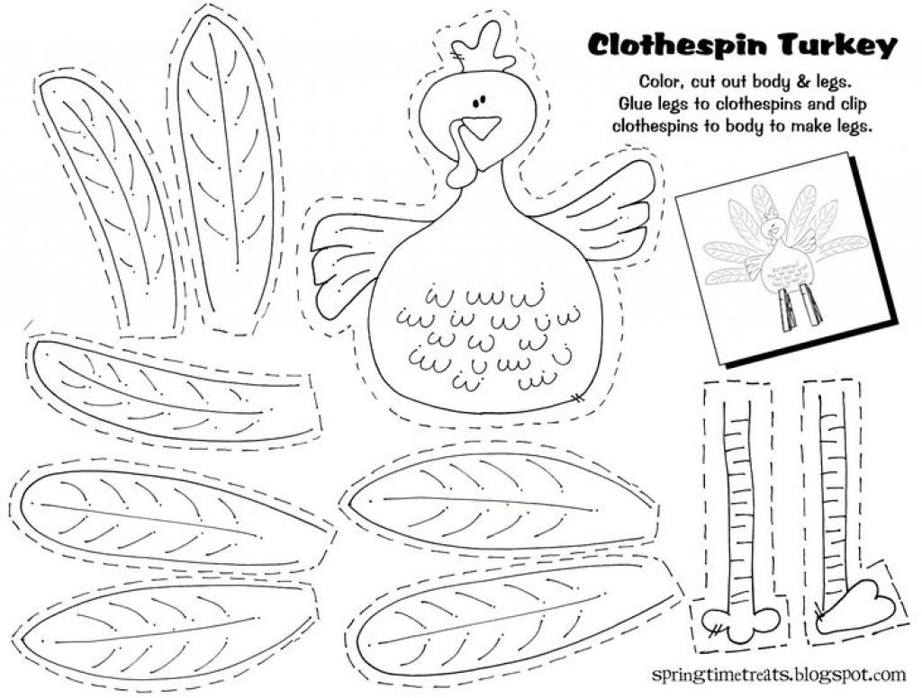 Image Result For Free Printable Thanksgiving Crafts