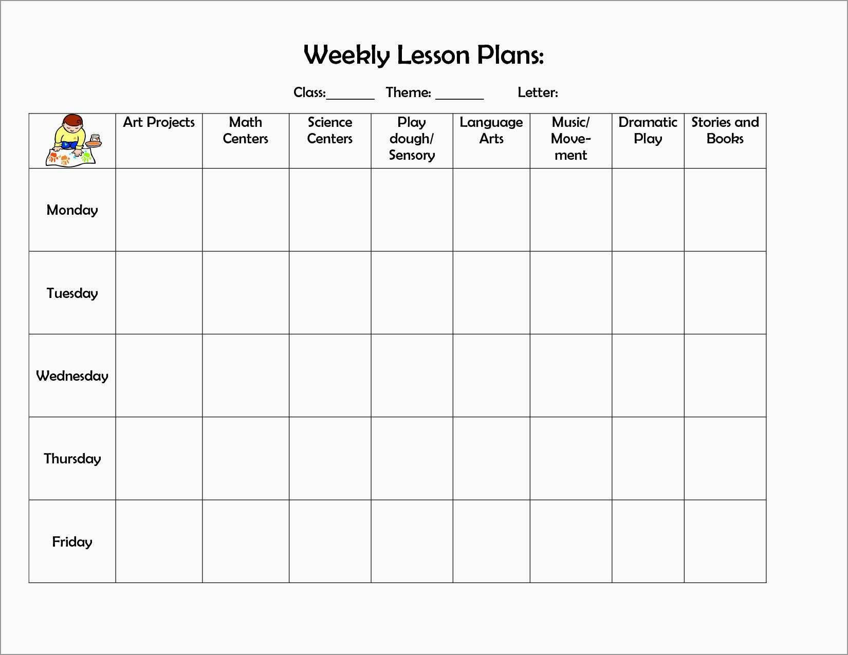 Free Printable Infant Lesson Plans