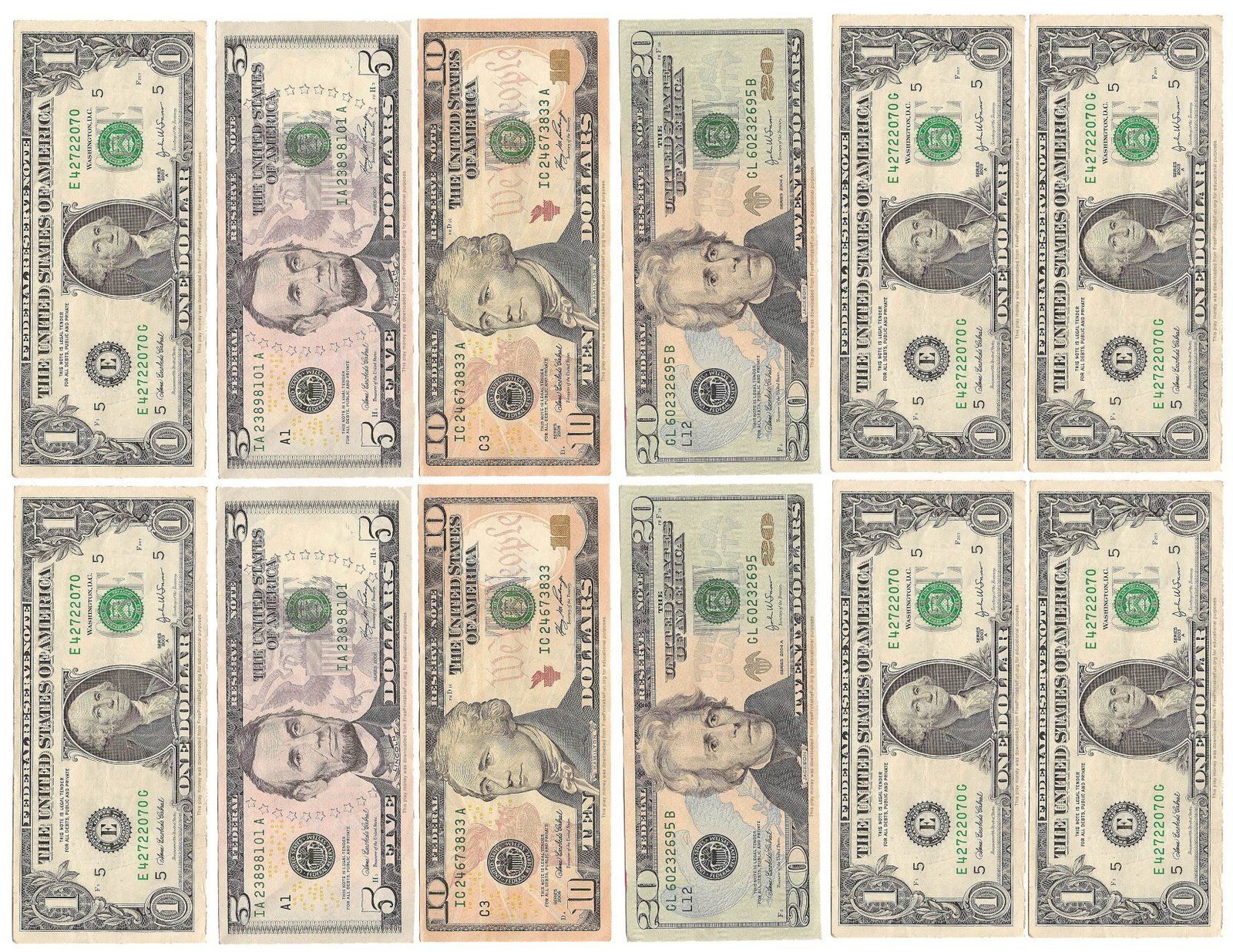 Free Printable Fake Money That Looks Real