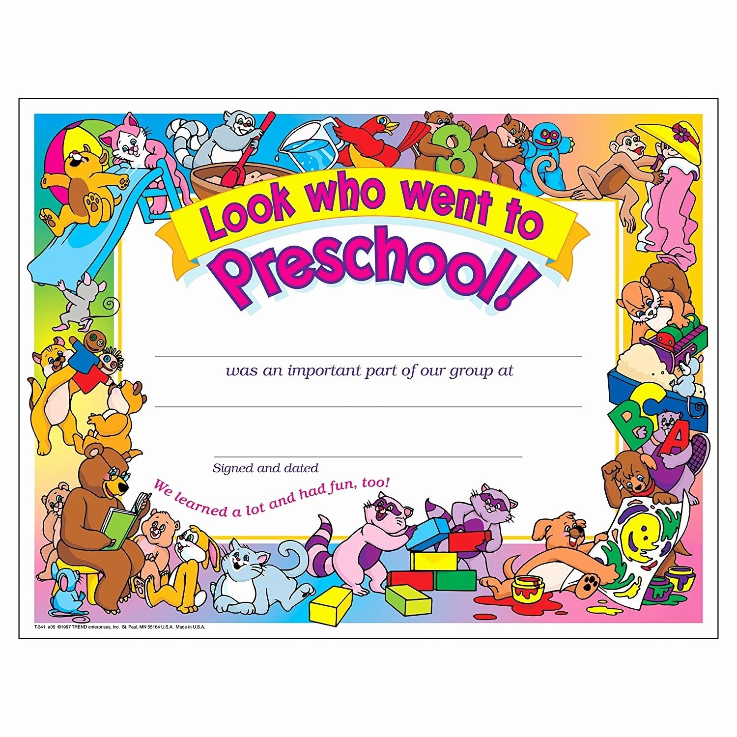 Preschool Graduation Diploma Free Printable