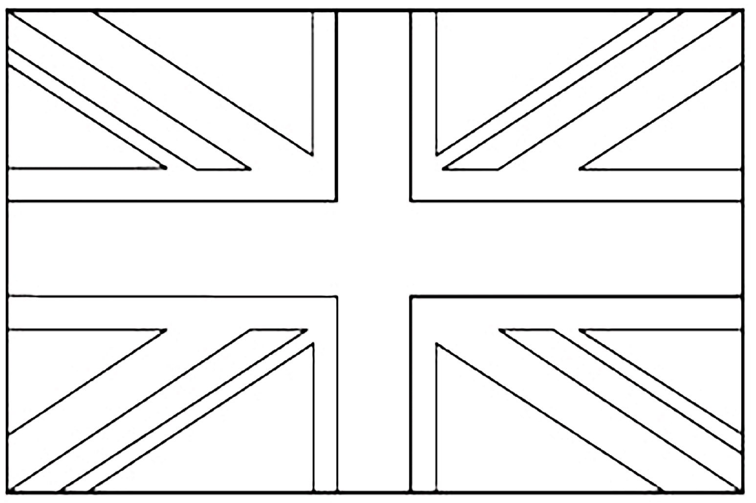 Free Printable Union Jack Flag To Colour
