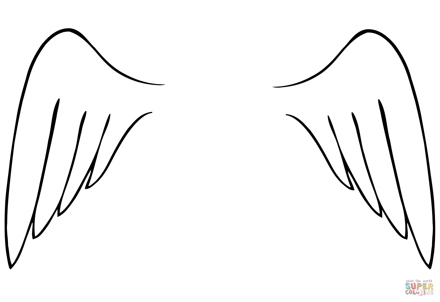 Angel Wings Template Printable Free