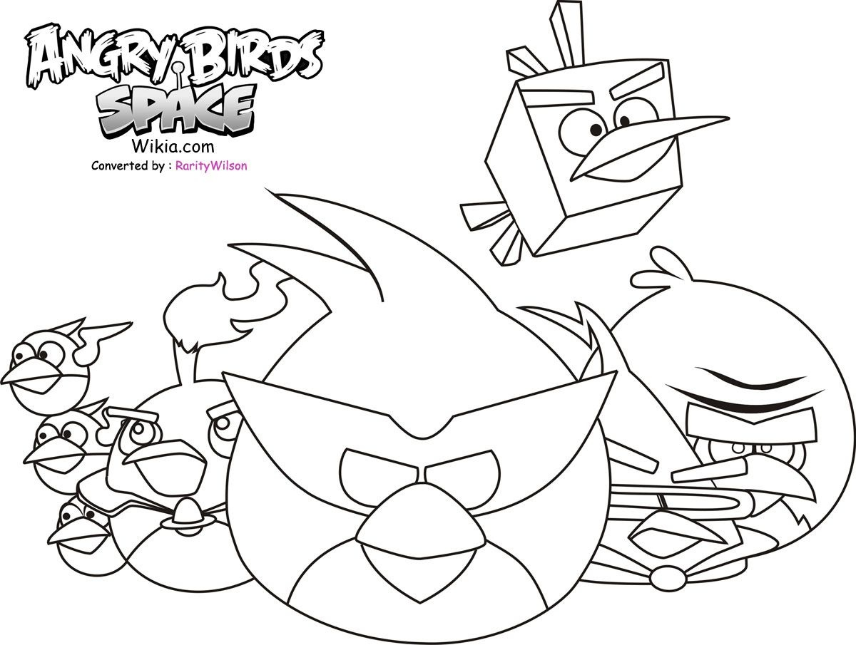 Free Printable Angry Birds Space Coloring Pages