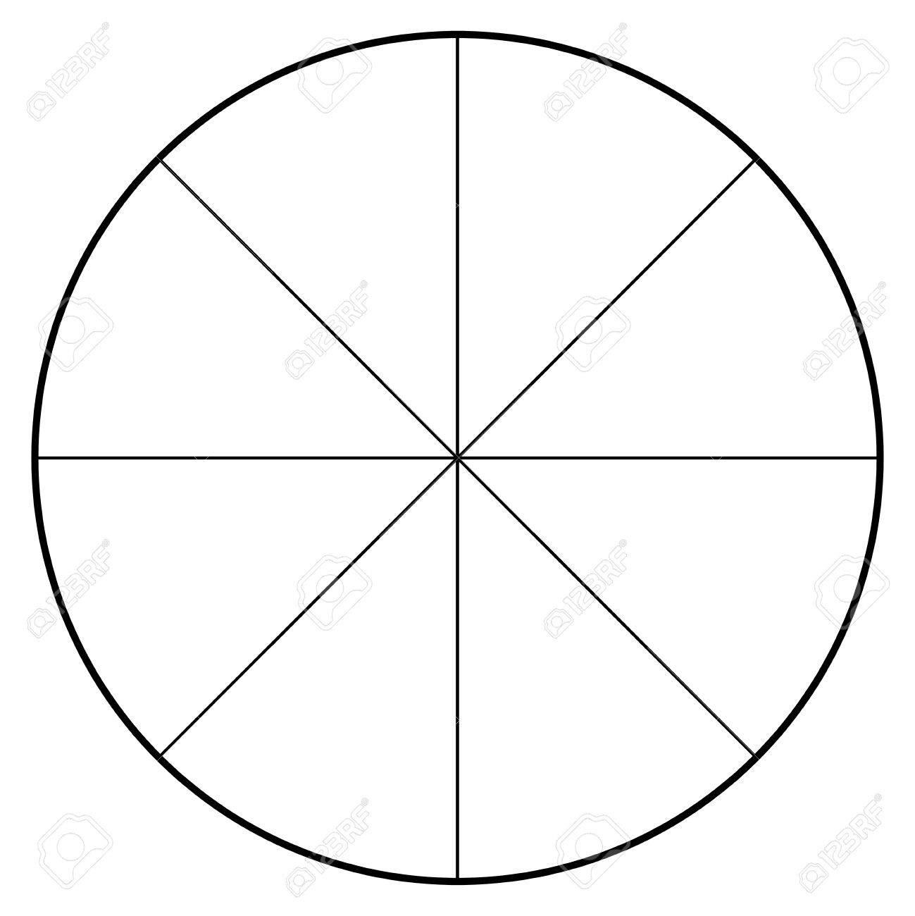 Blank Polar Graph Paper Protractor Pie Amp Chart Vector