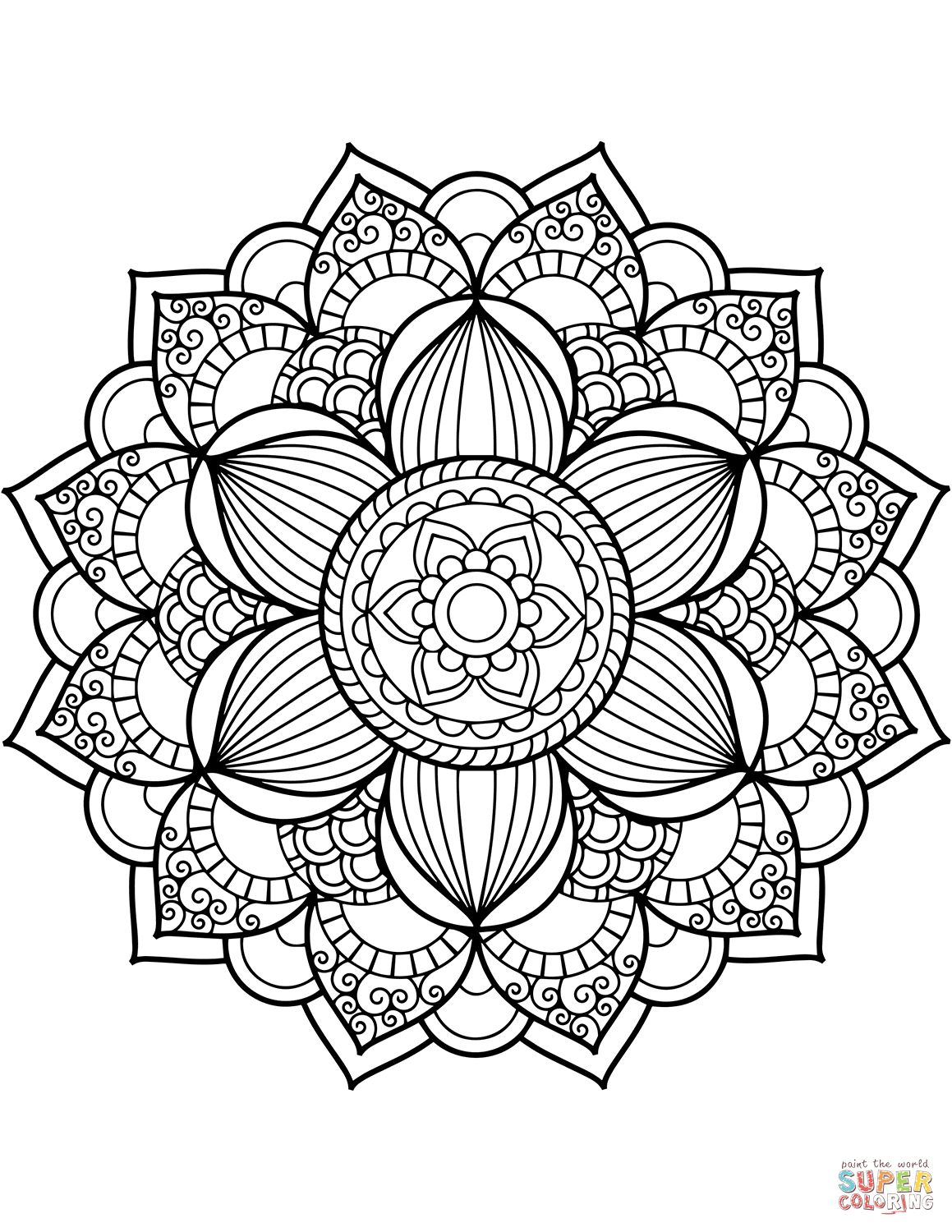 Coloring Page Mandala Coloring Pages Page Free