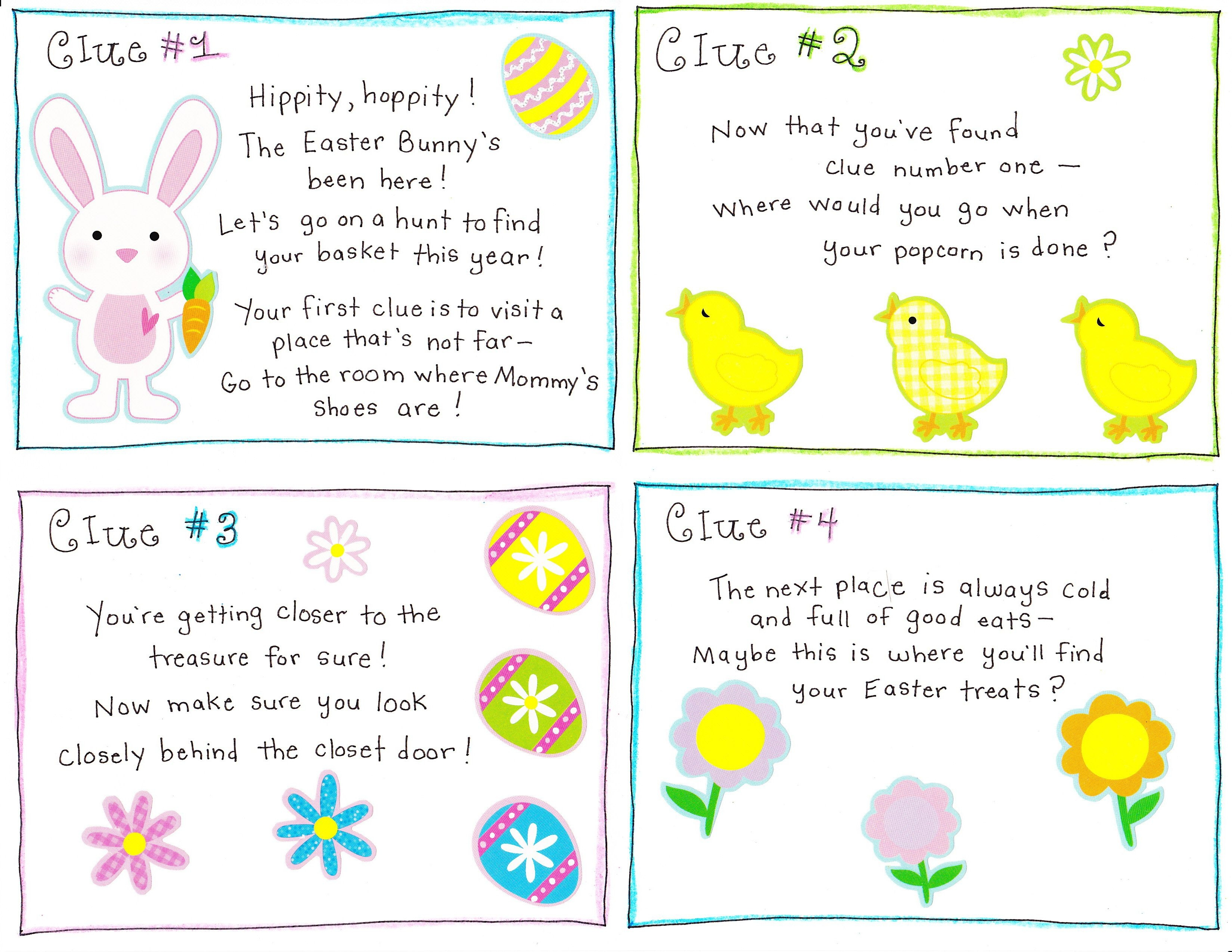 Free Printable Easter Egg Hunt Riddles