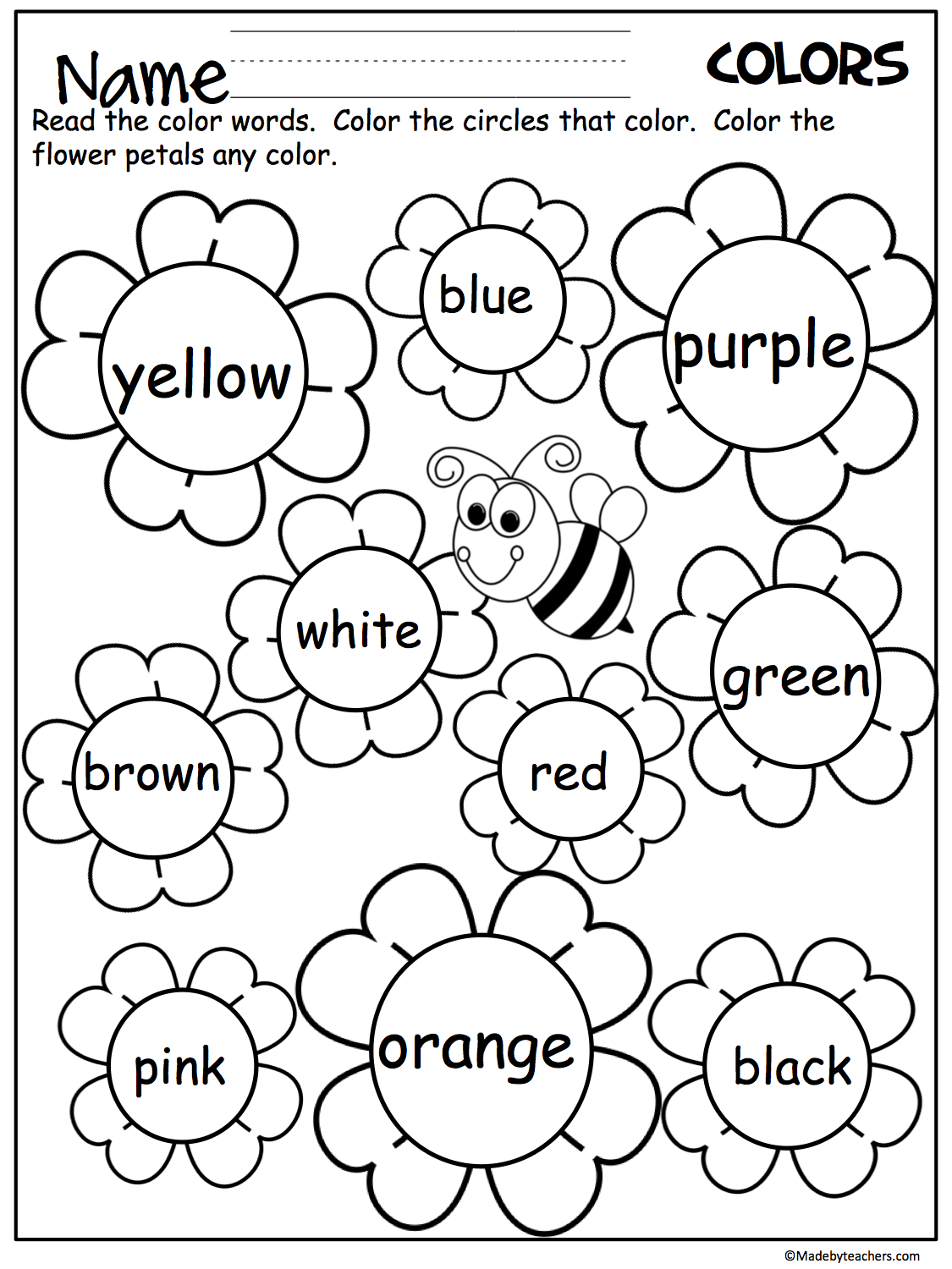 Colors Worksheets For Preschoolers Free Printables