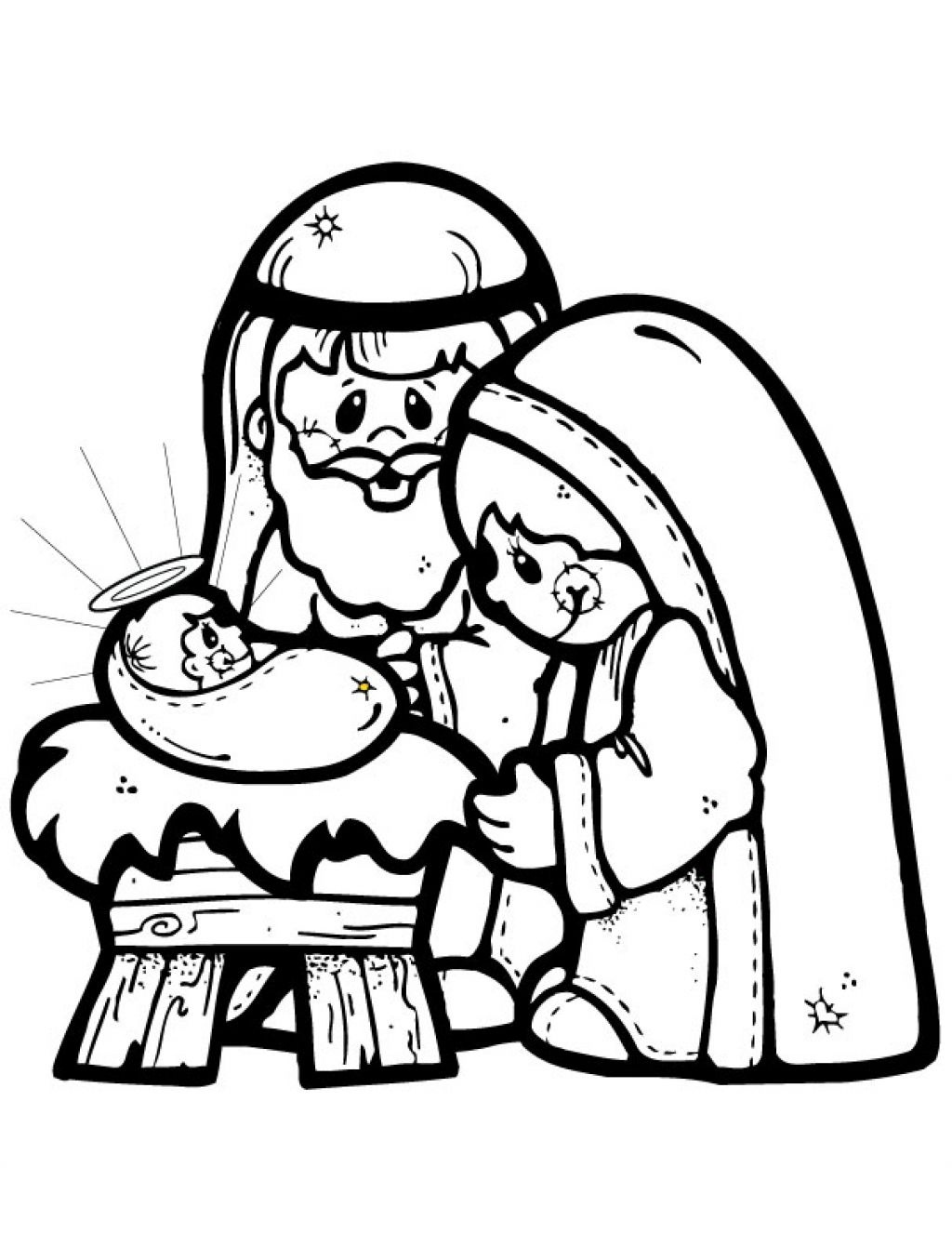 Free Printable Nativity Story Coloring Pages