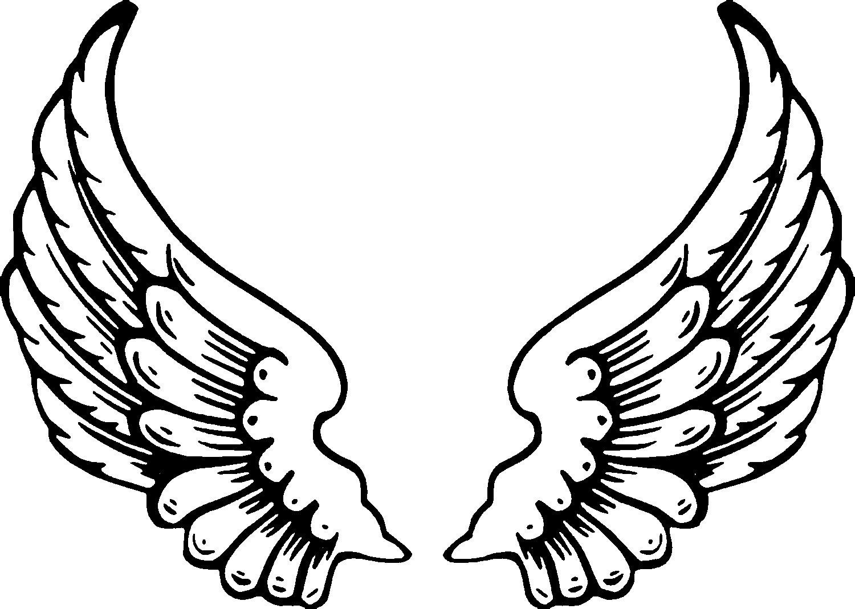 Angel Wings Template Printable Free