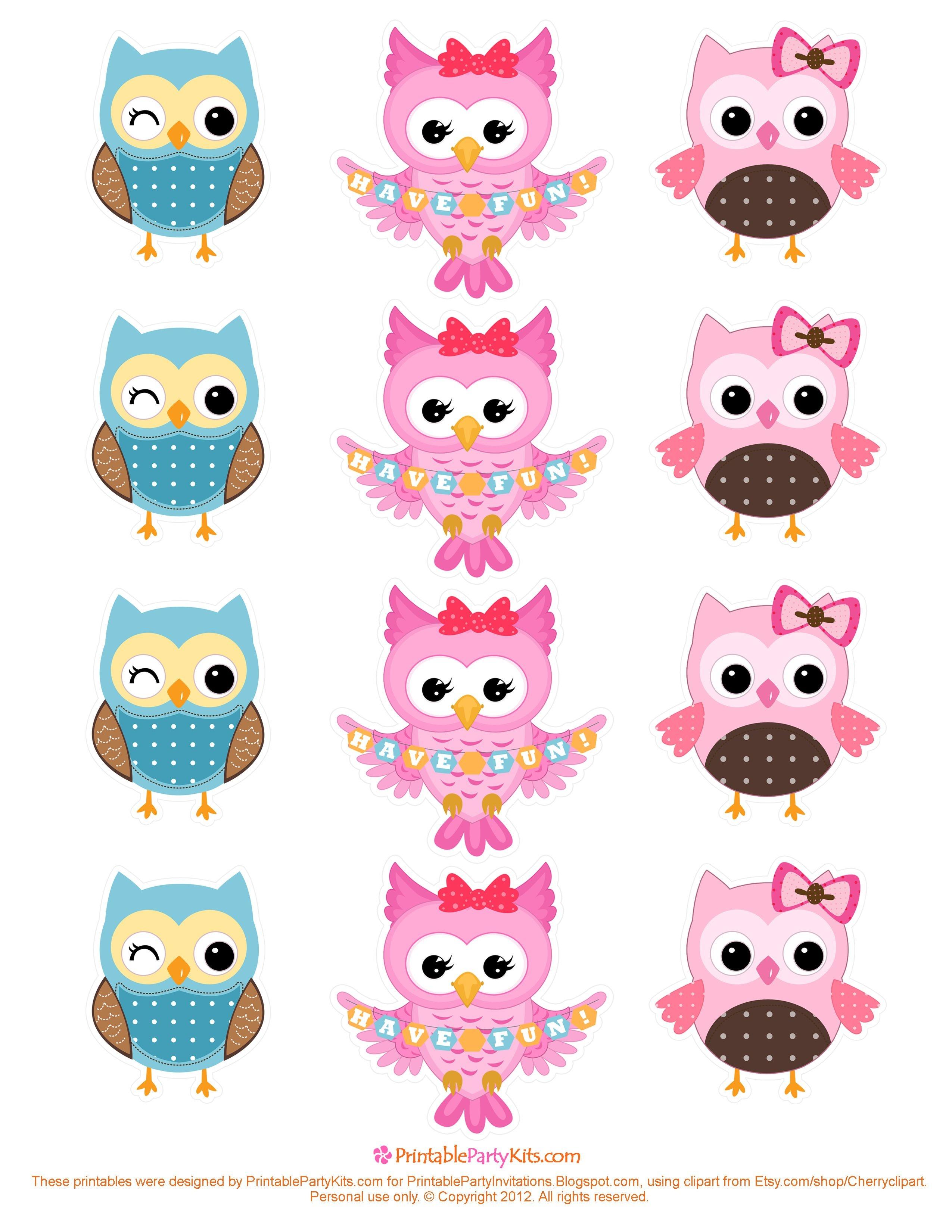 Free Owl Printables