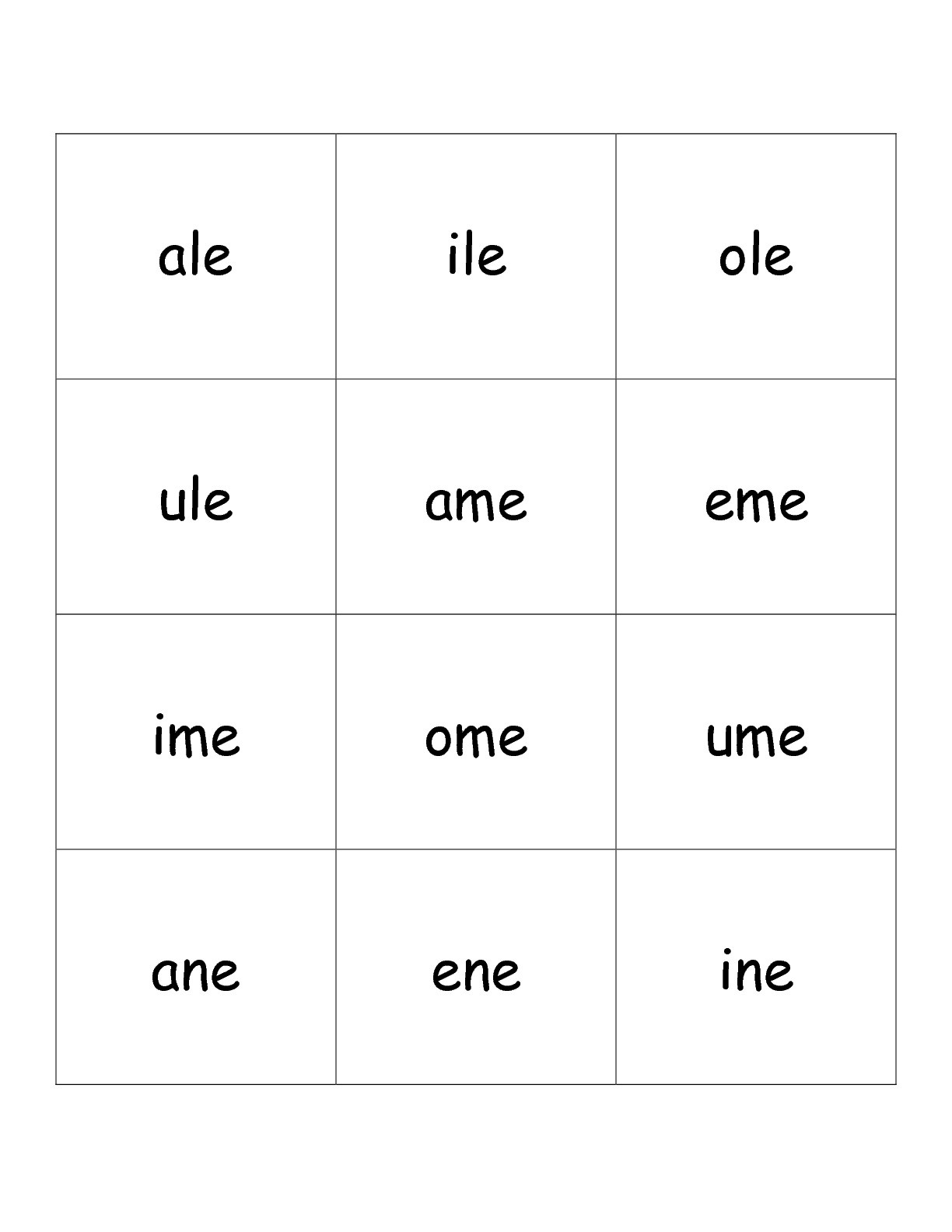 Free Printable Phonics Flashcards With Pictures