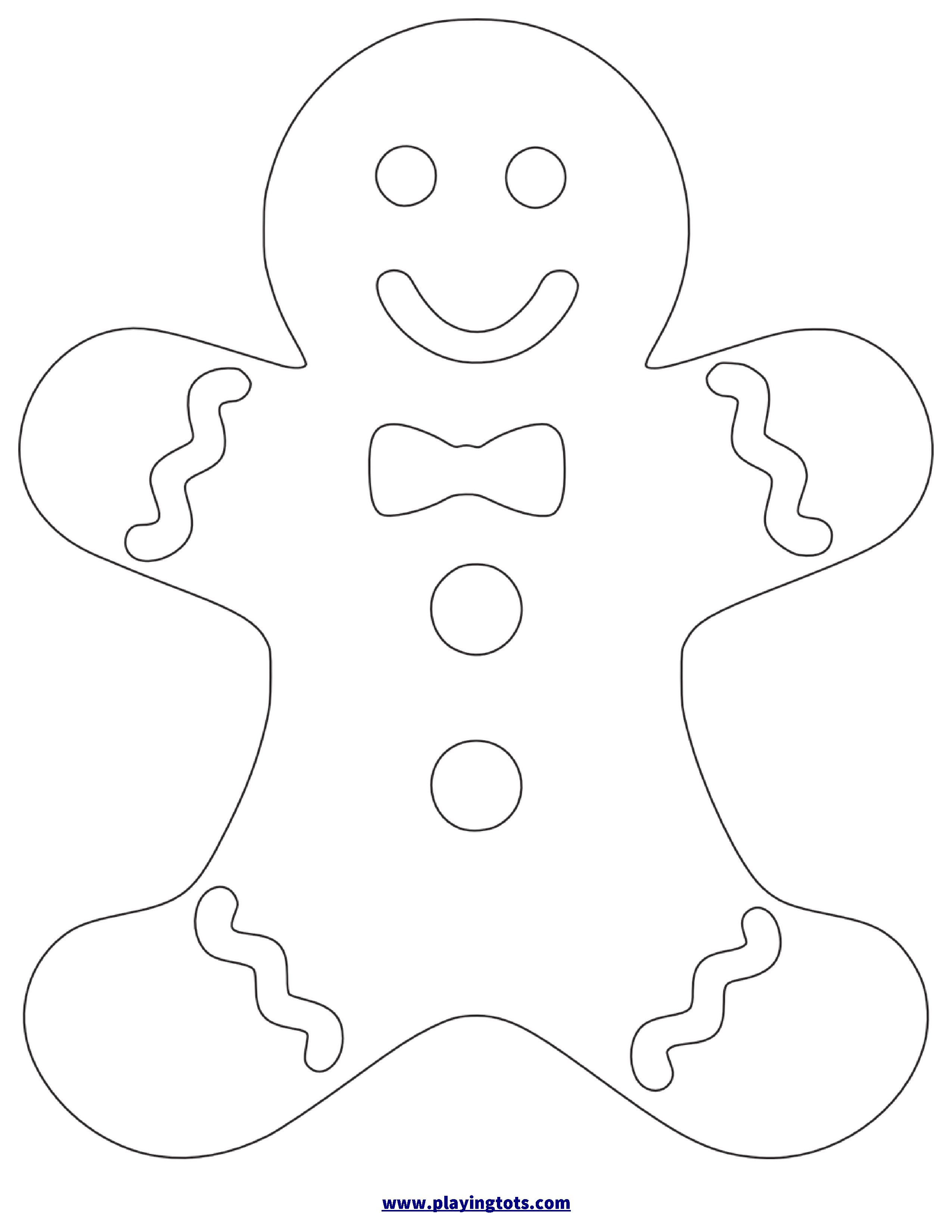Gingerbread Template Free Printable