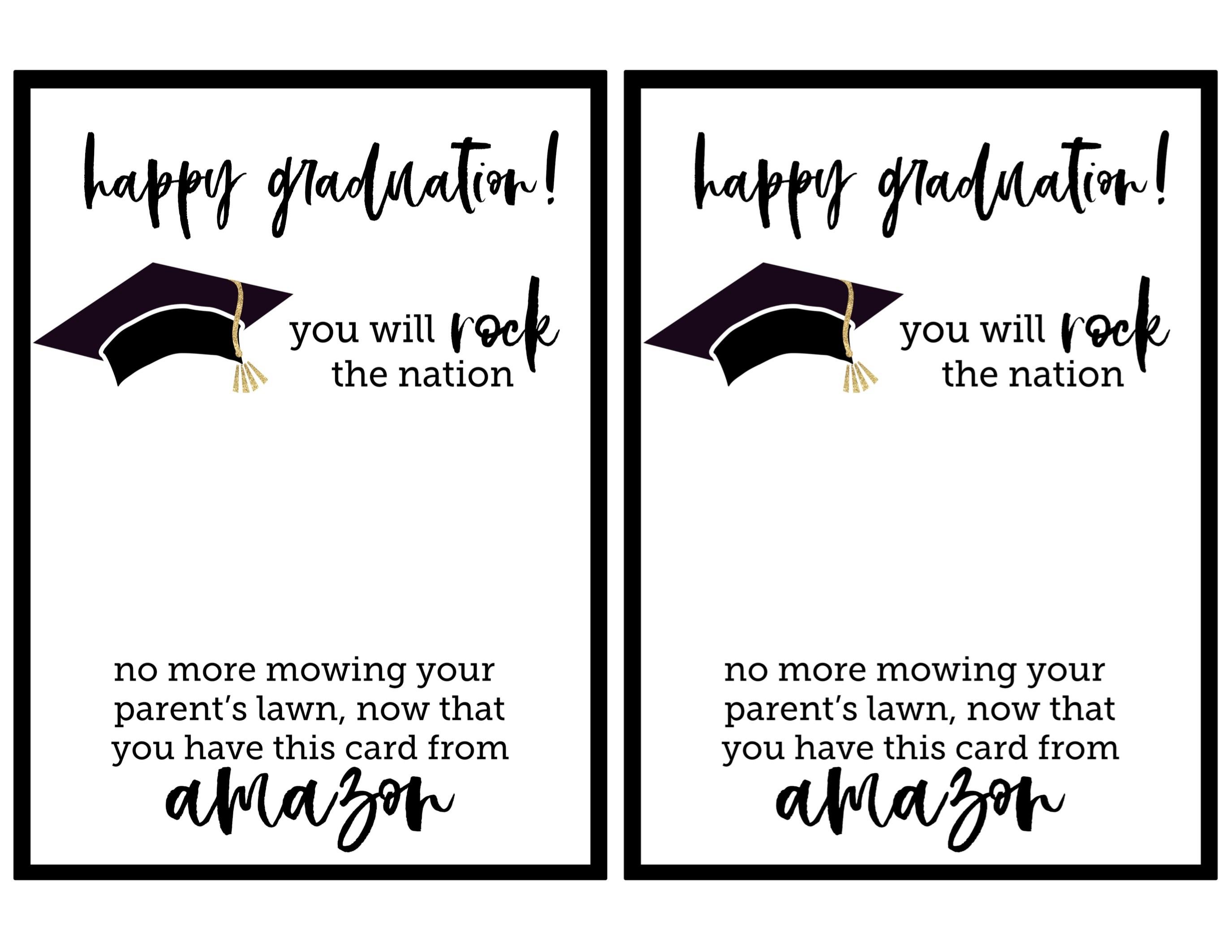 Free Graduation Printables