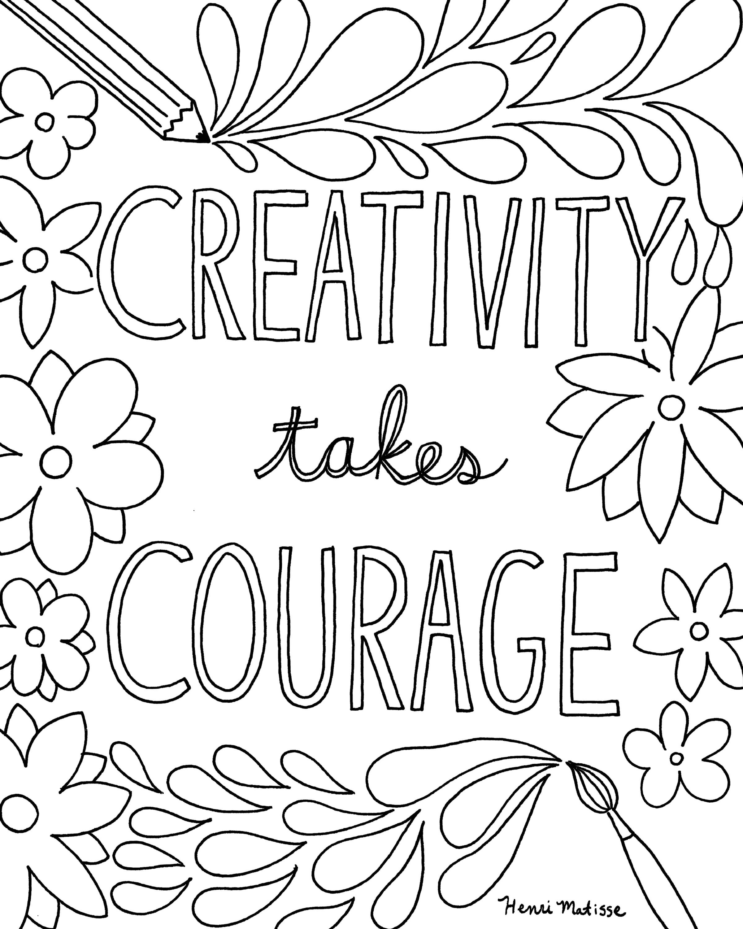 Inspirational Quotes Coloring Sheets Luxury Free Printable