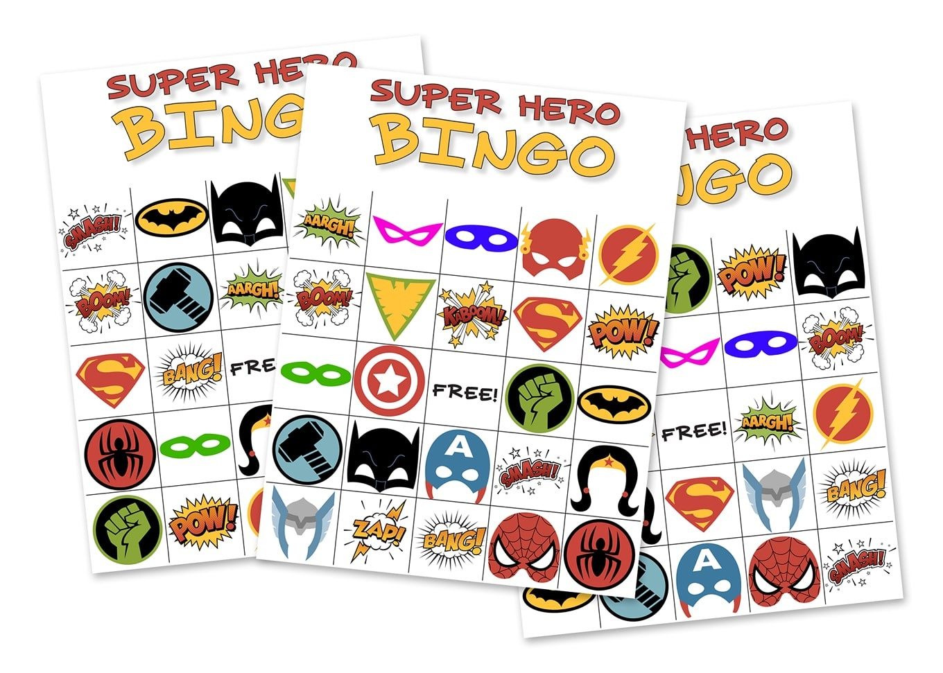 Free Printable Superhero Photo Booth Props