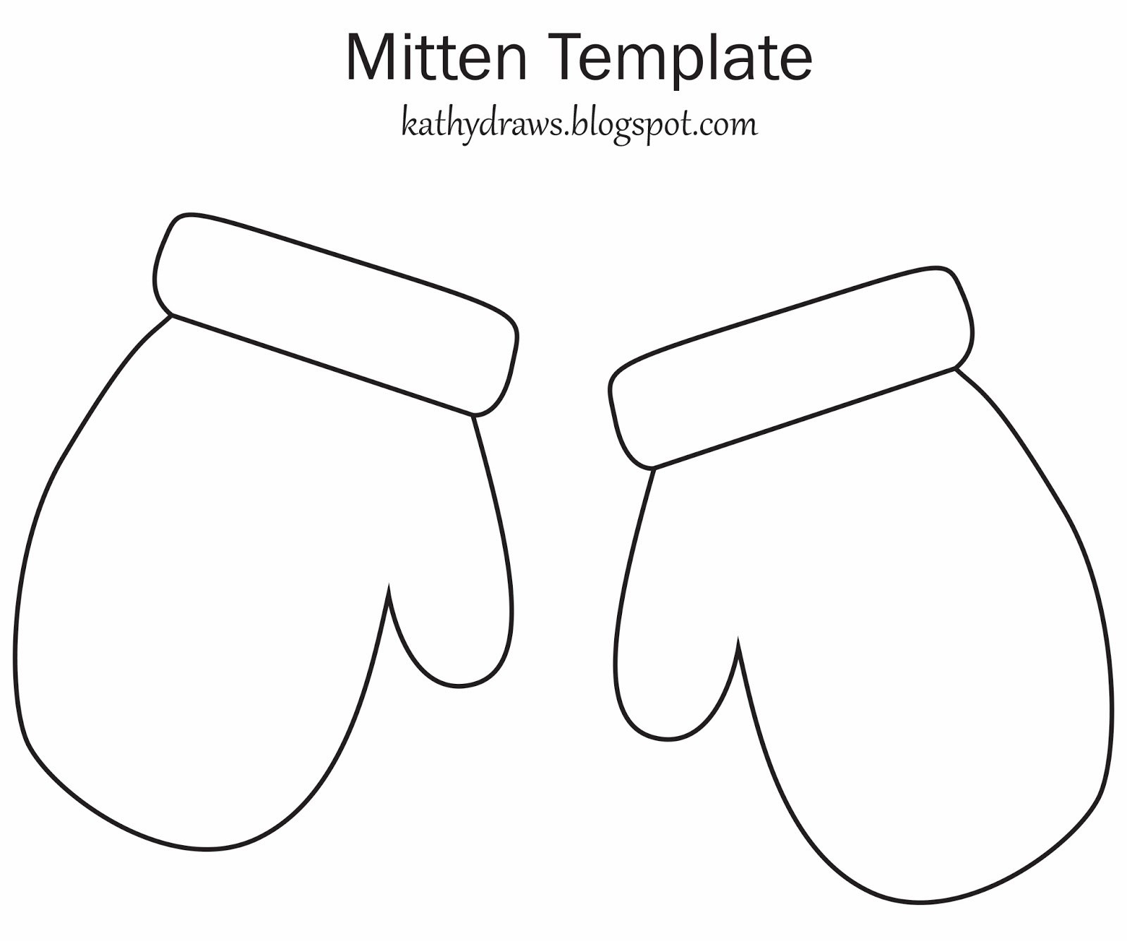 Free Mitten Template Printable