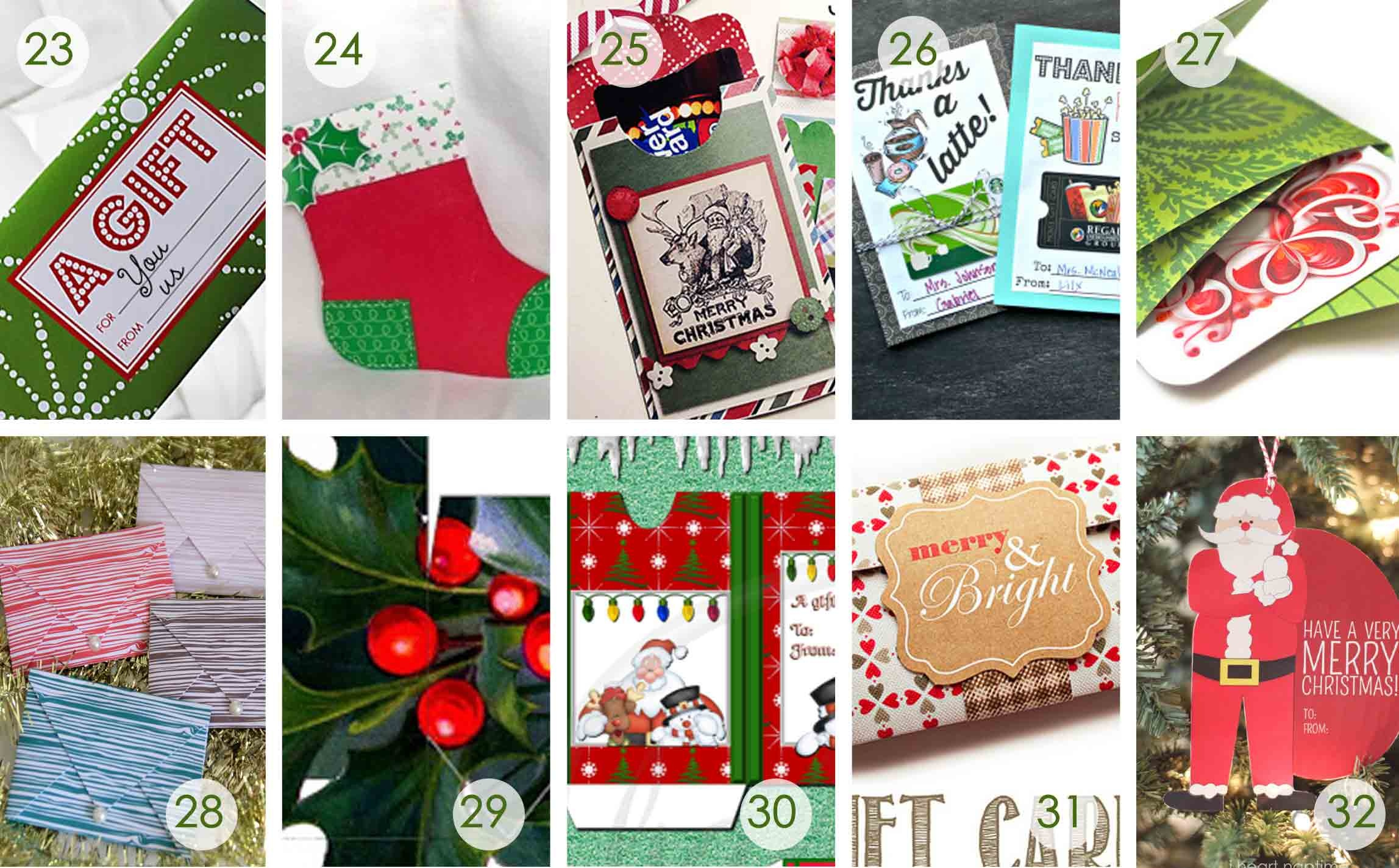 Christmas Money Wallets Free Printable