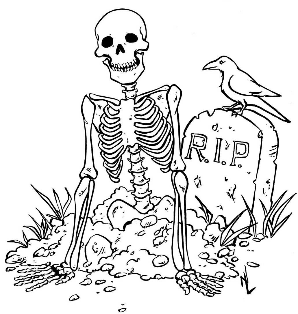 Free Printable Skeleton Coloring Pages