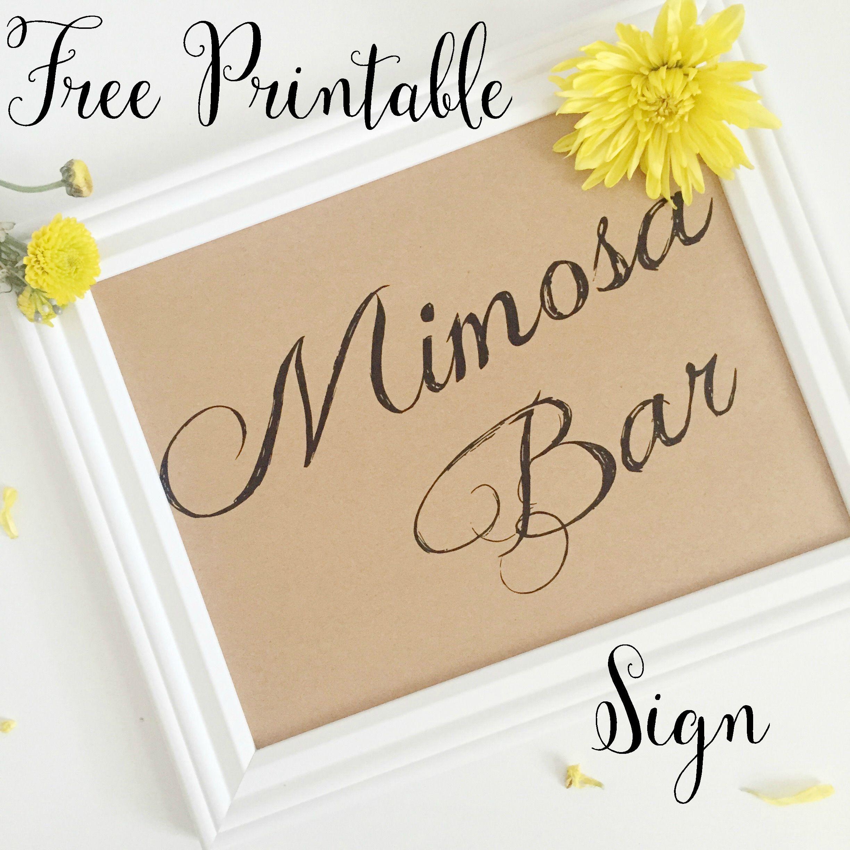 Free Mimosa Bar Printable