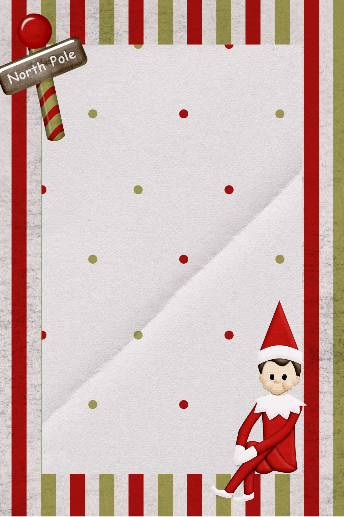 Elf Letterhead Template Free Printable Elf On The Shelf