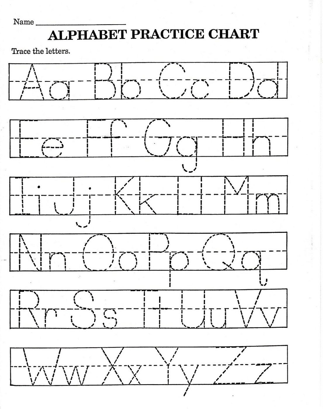 Trace Letter Worksheets Free