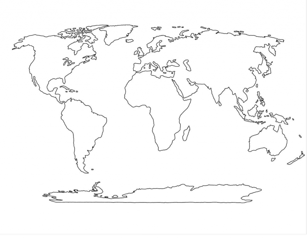 Blank World Map Continents And Oceans Worksheet