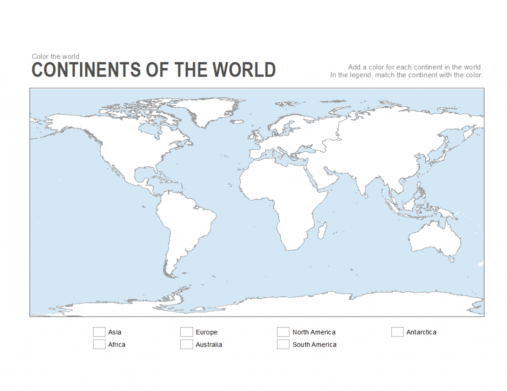 Big Coloring Page Of The Continents