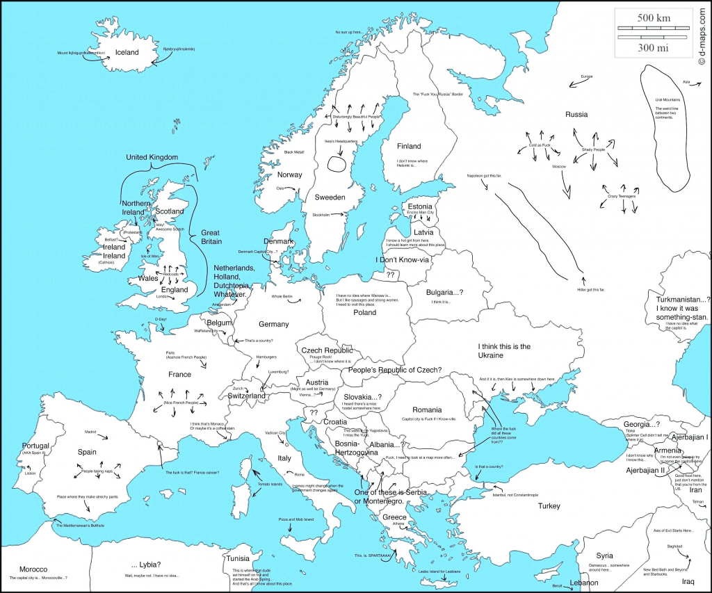 Blank Europe Political Map