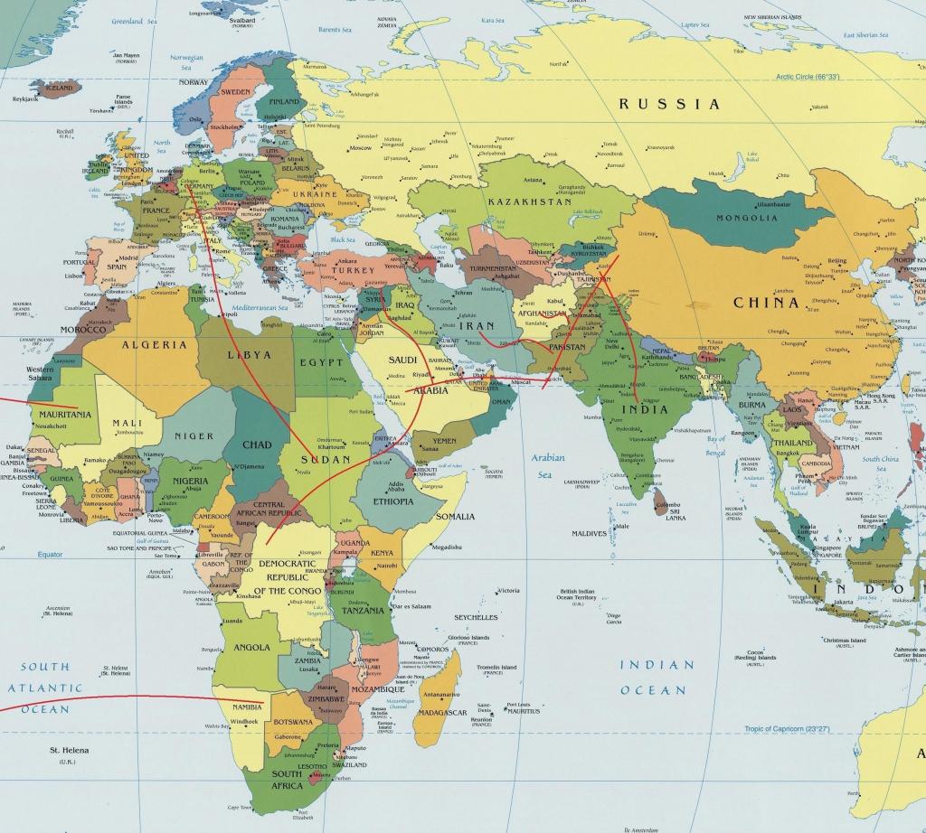 Eastern Hemisphere Map Printable