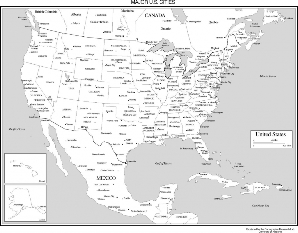 Outline Map Of The 50 Us States