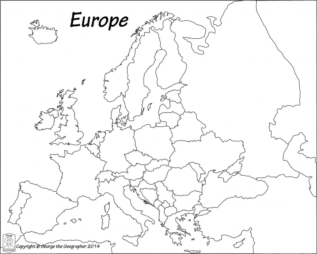 Printable Black And White Map Of Europe