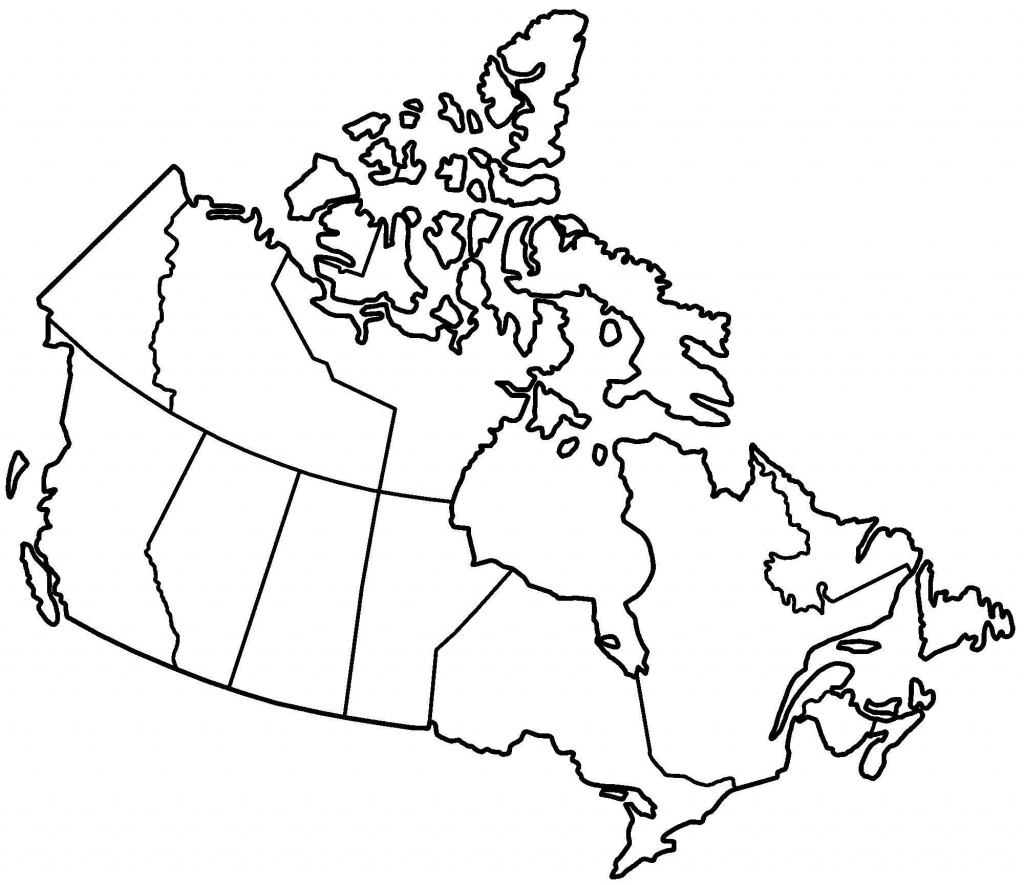 Printable Blank Map Of Canada To Label
