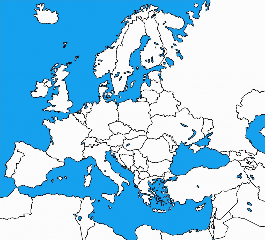 Blank Political Map Of Europe 0