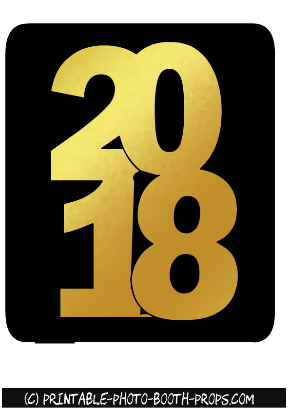 Happy New Year 2018 Printable – Merry Christmas And Happy