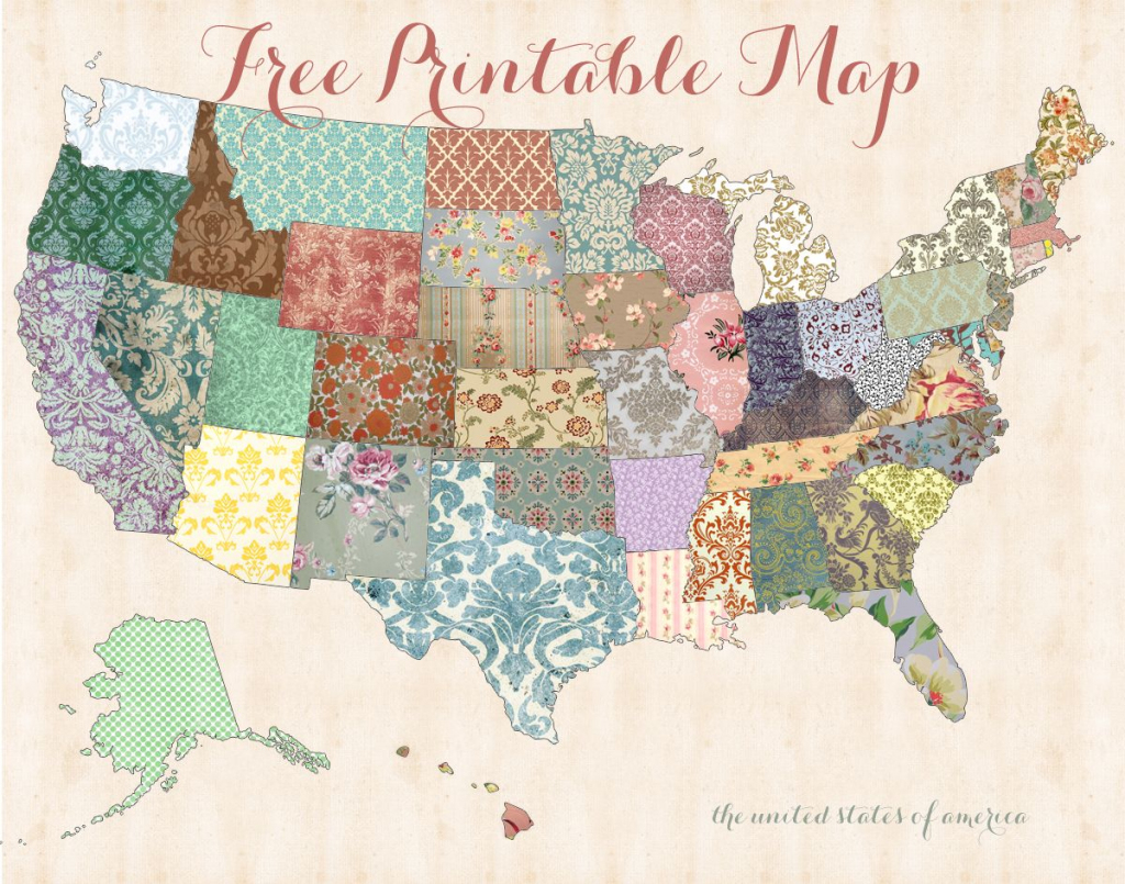 Harvesting Hart Free Cute U S Map Printable Download