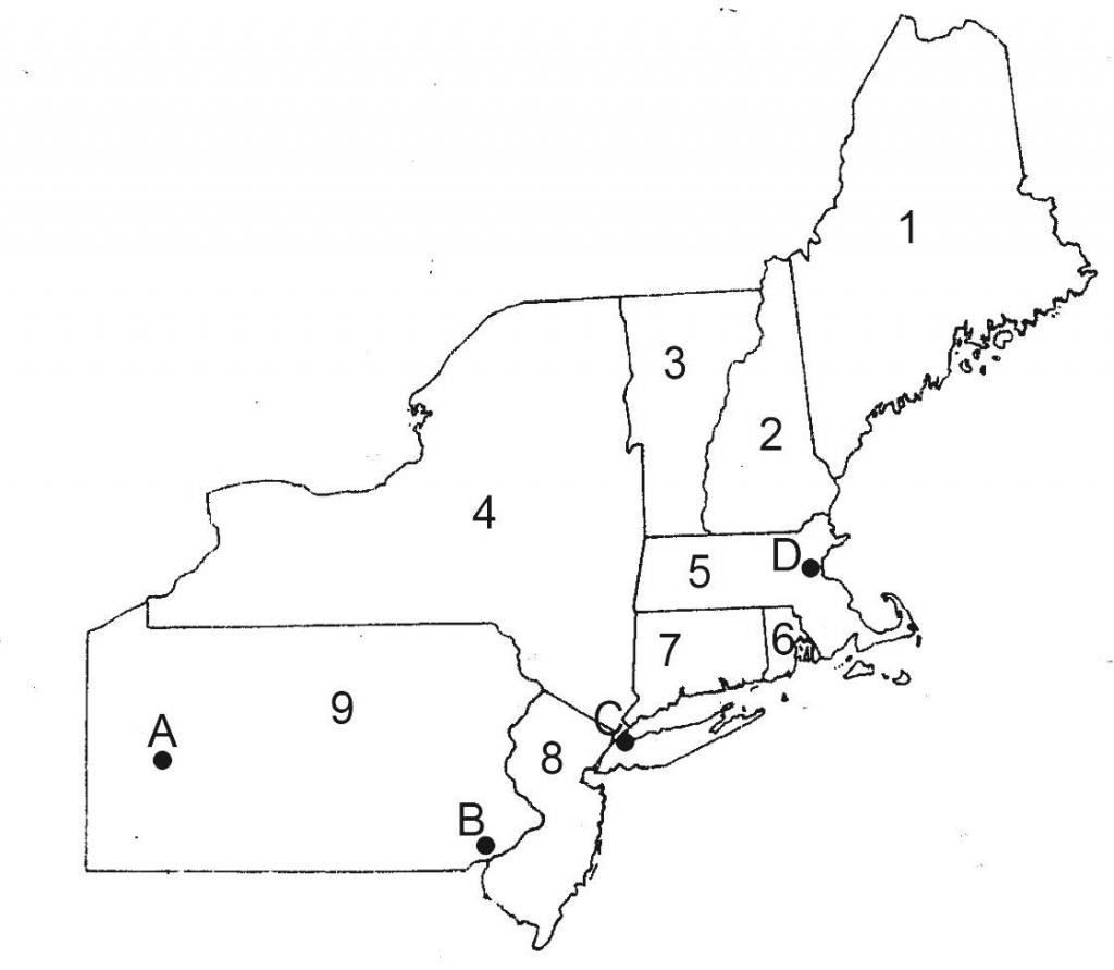 Printable Map Of The Northeastern United States