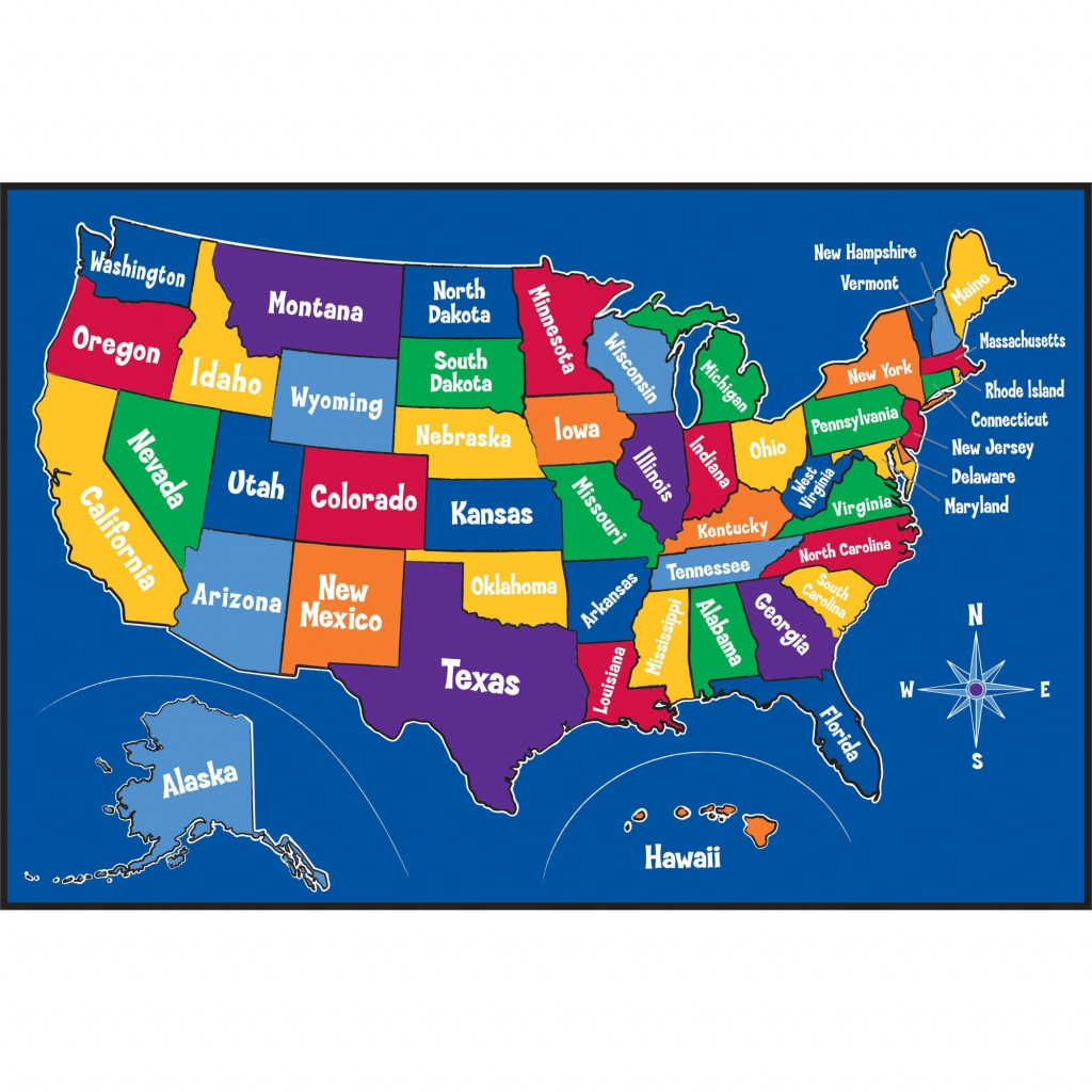 Printable United States Map For Kindergarten