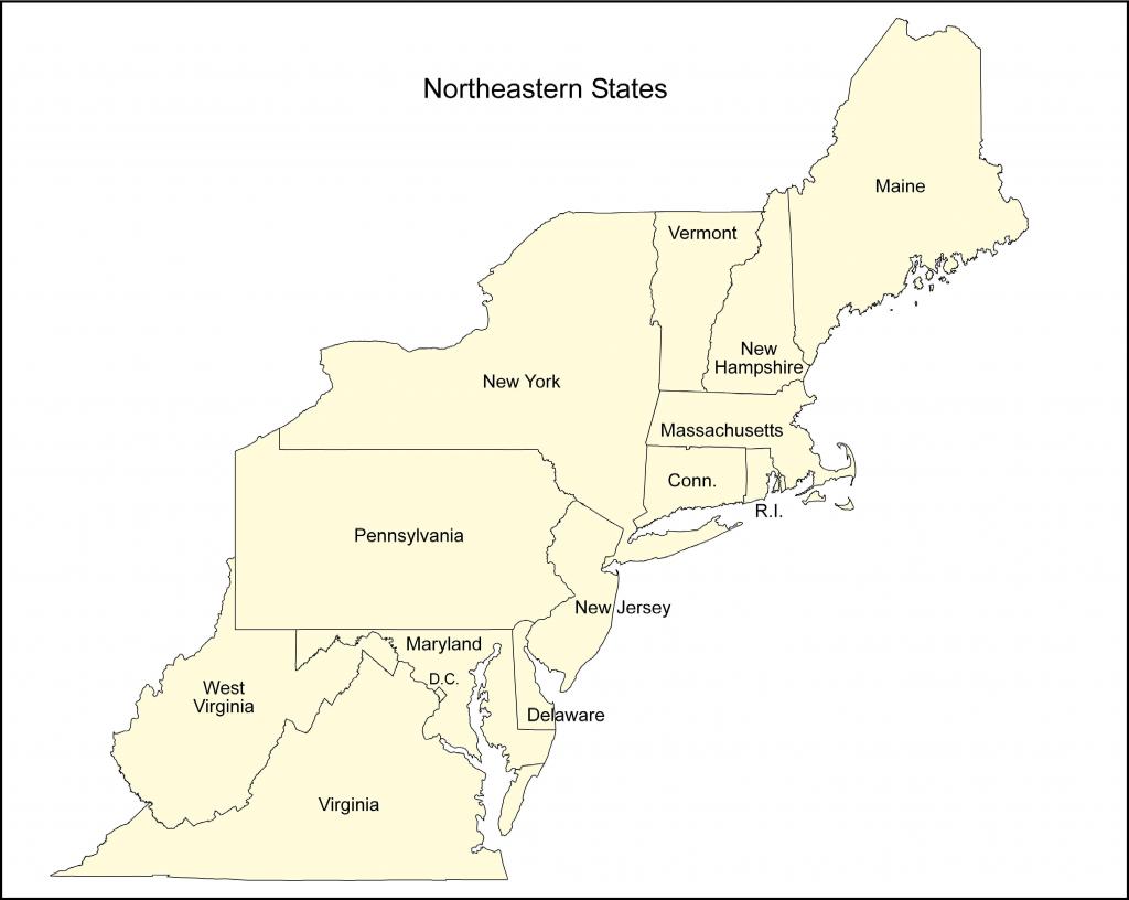 Blank Us Northeast Region Map Label Northeastern States
