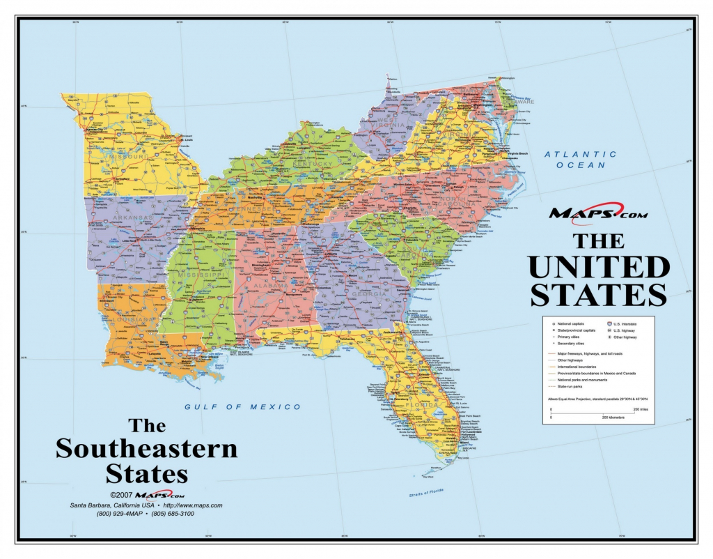 Printable Map Of Eastern United States With Cities