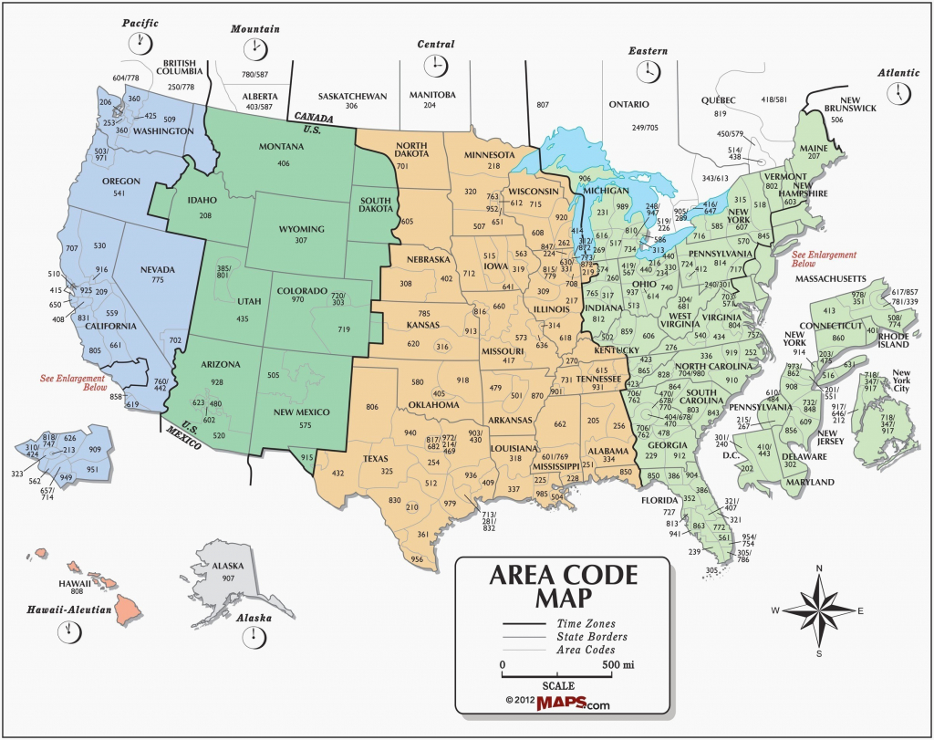Printable Map United States Time Zones State Names Save