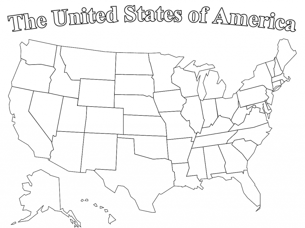 Printable United States Map Puzzle