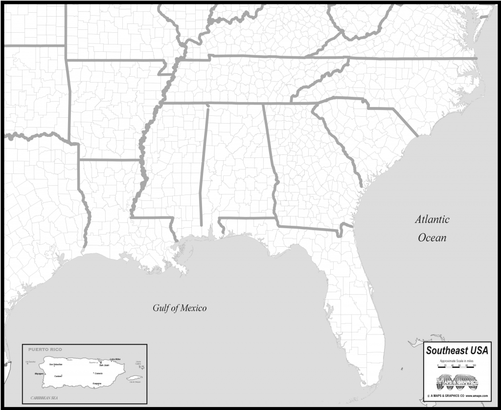 Blank Map Of Southeast Us Interactive Southeastern United