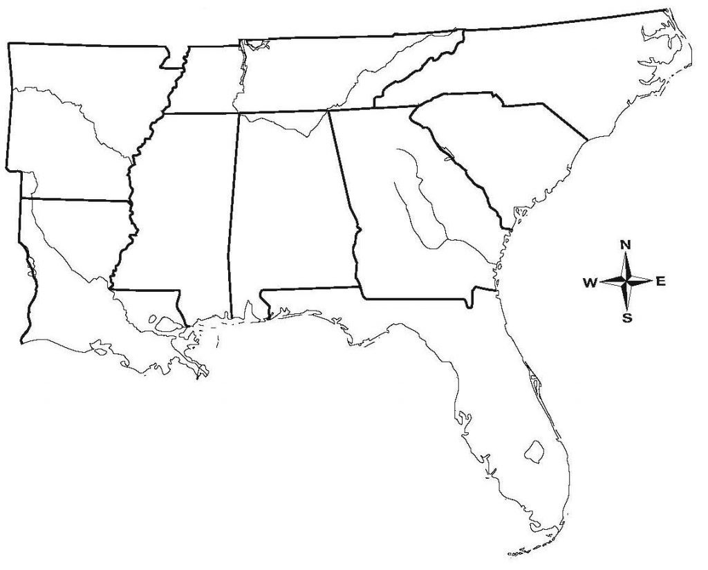Blank Map South Subway State Southeast Region The East