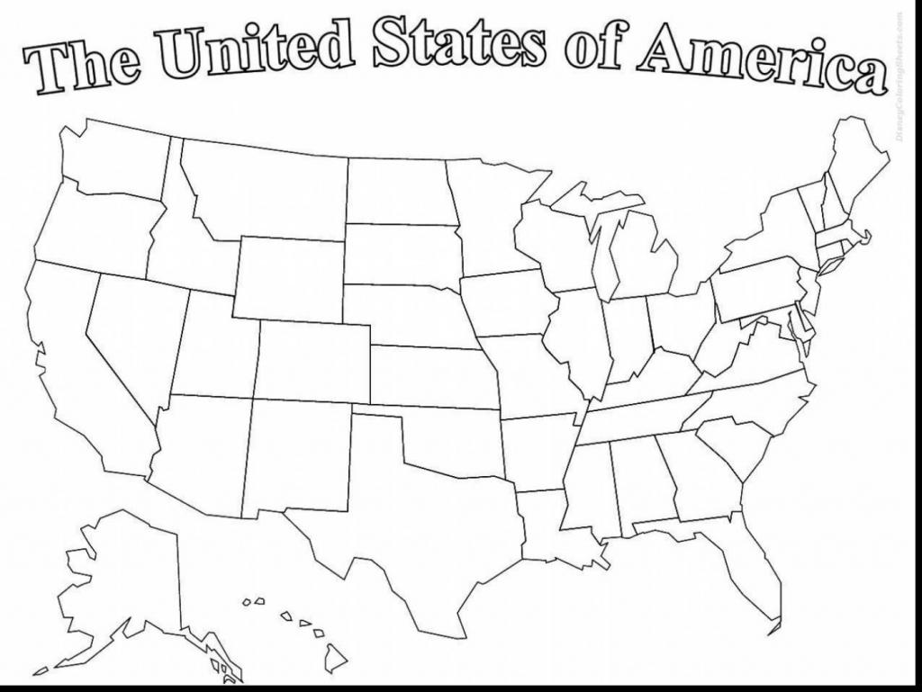 Printable Usa Map For Preschoolers