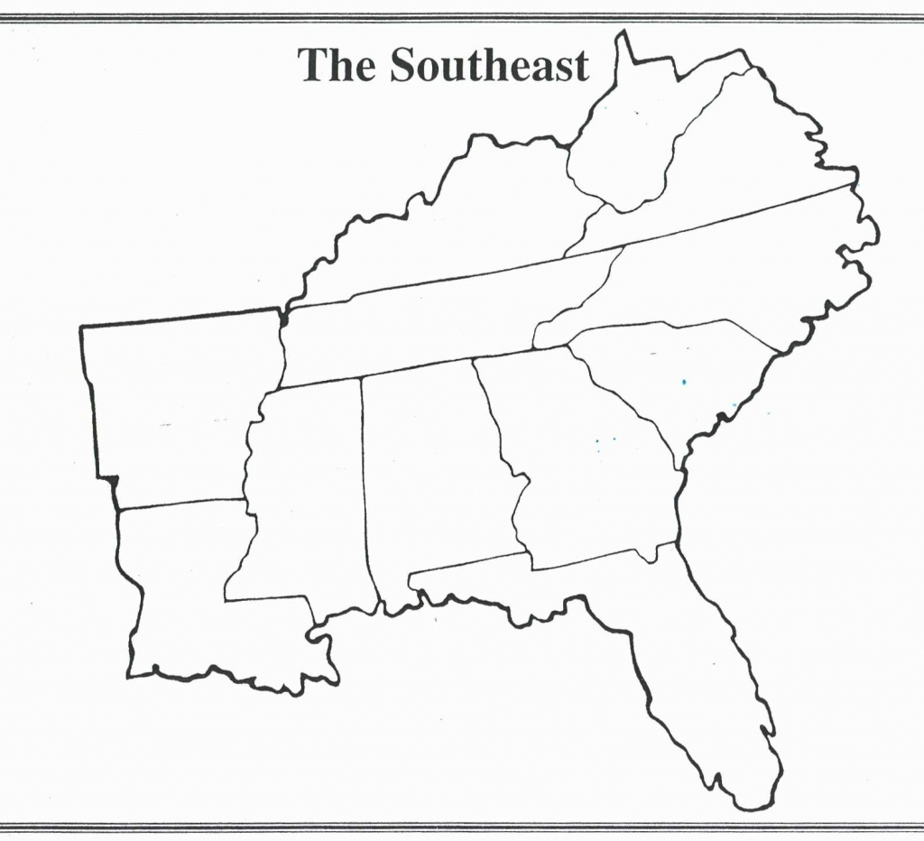 Printable Map Of The Southeastern United States