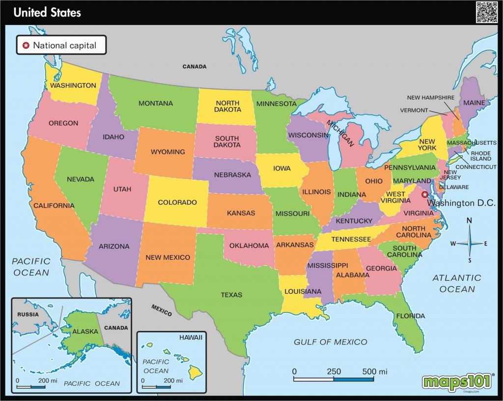 Printable United States Regions Map