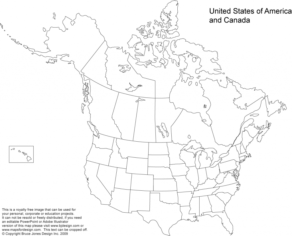Blank Map Of The Us And Canada Outline Usa Mexico With