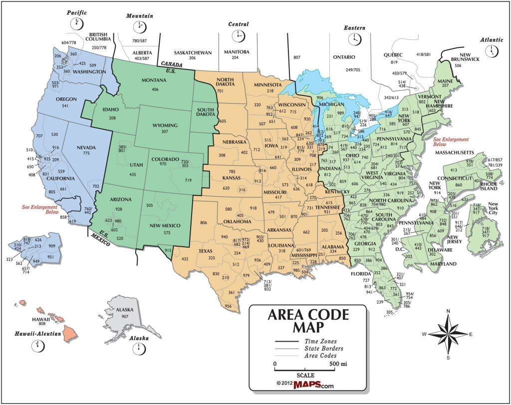 Printable Map Us Canada Time Zones