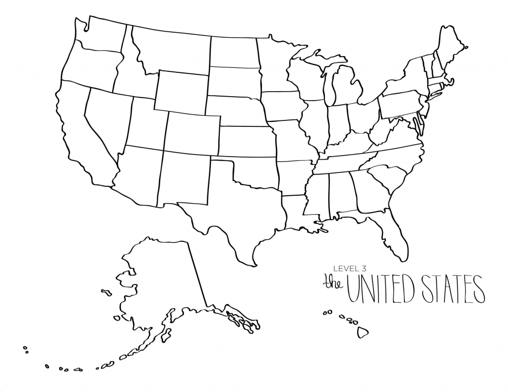 Printable Map Of The United States Blank