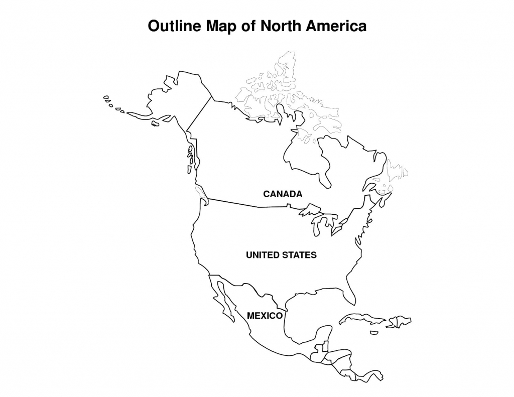 Political Map North America Printable Us Canada With